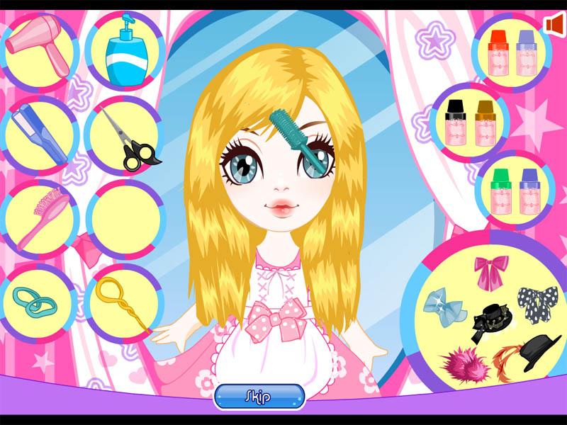 Игры для девочек, как делать прически