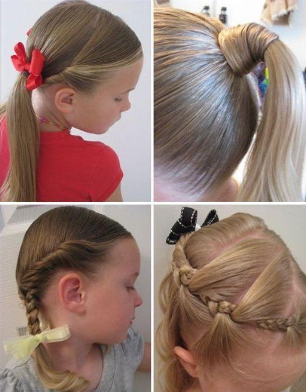 Стильные детские прически на средние волосы для маленьких модниц